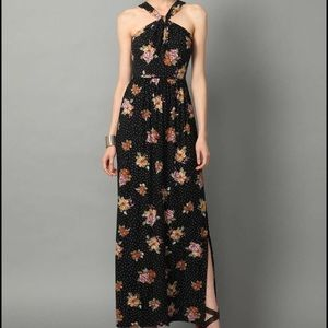 Free people floral halter maxi